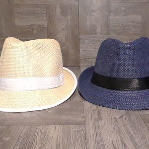 Straw fedora hat bundle